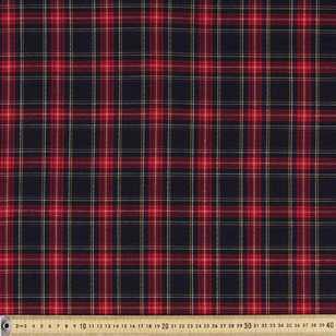 Blackwatch Viscose Poly Stretch Fabric