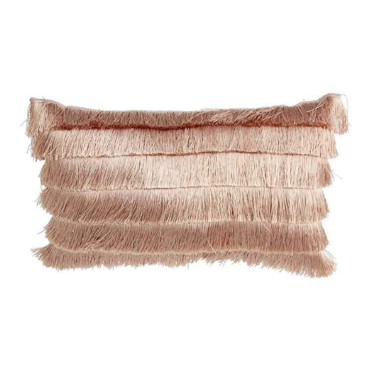 Ombre Home Winter Luxe Oblong Cushion With Tassel