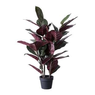 Ombre Home Winter Luxe Faux Rubber Plant