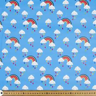Clouds Printed 148 cm Raincoat Fabric