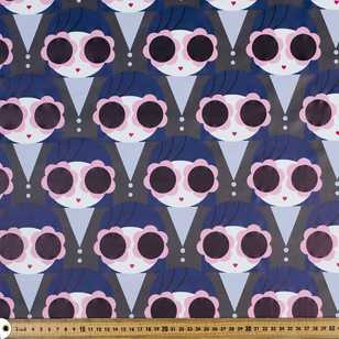 Doll Face Printed 148 cm Printed Raincoat Fabric