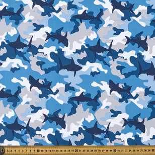 Shark Camouflage Printed 148 cm Soft Shell Fabric