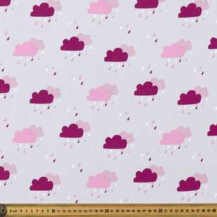 Rain Cloud Printed 148 cm Soft Shell Fabric