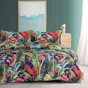 Mode Satin Tropical Quilt Cover Set