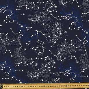 Cosmic Printed Cotton Spandex Fabric