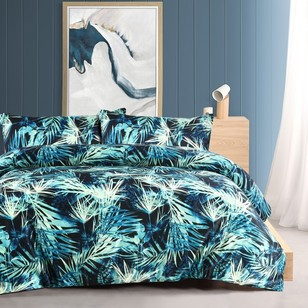 Mode Satin Leaf Quilt Cover Set
