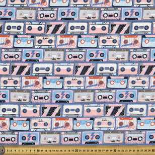 Mix Tape Printed 148 cm French Terry Fabric