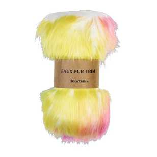 Deluxe Rainbow Faux Fur Trim