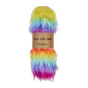 Rainbow Faux Fur Trim