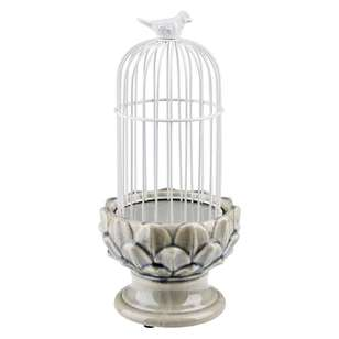 Living Space Bird Cage Candle Holder