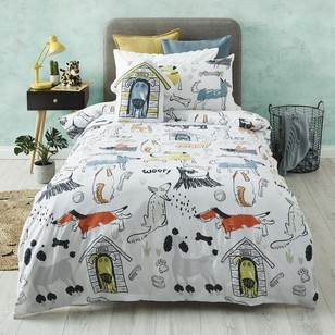 Kids House Dogs World Quilt Cover Set