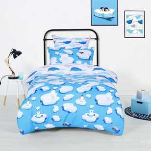 Ombre Blu Tundra Quilt Cover Set