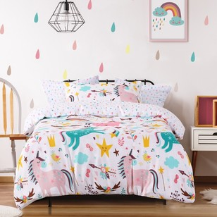 Ombre Blu Magical Unicorns Quilt Cover Set