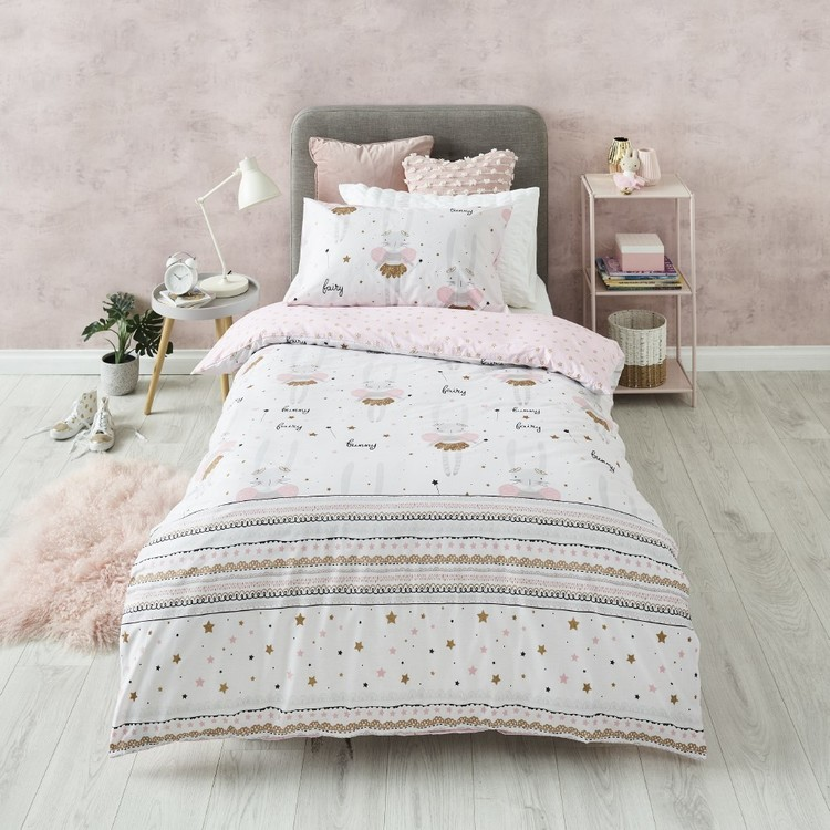 Kids House Fairy Bunny Quilt Cover Set