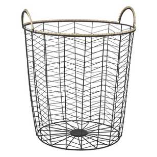 Ombre Home Winter Luxe Wire Storage Hamper