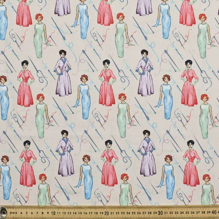 Studio E Sew Vintage Dresses Cotton Fabric