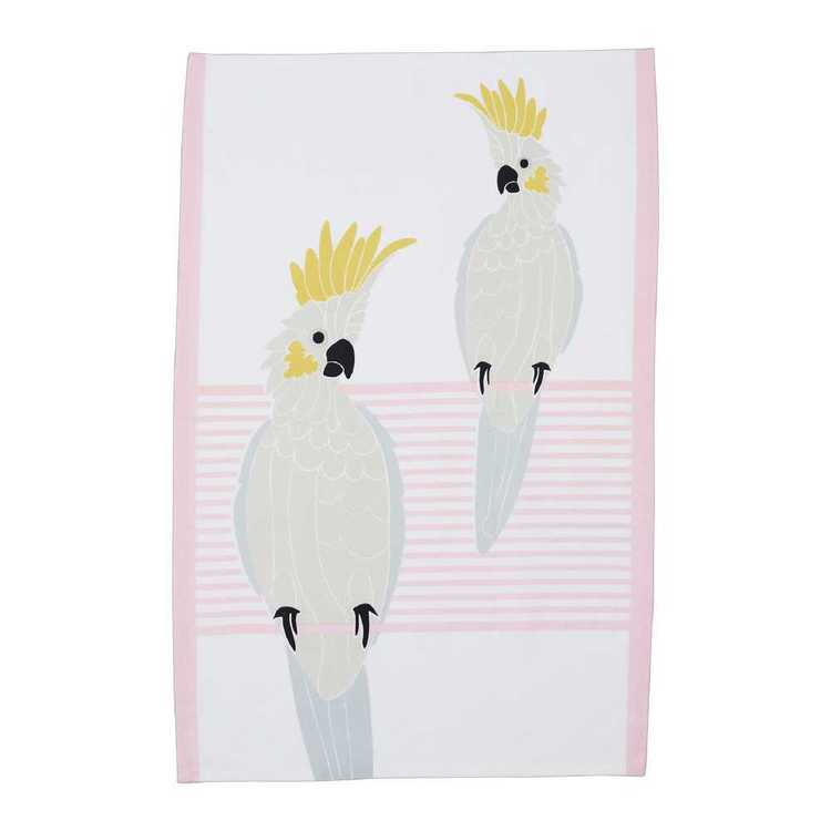 Dine By Ladelle Cocky Cockatoo Tea Towel
