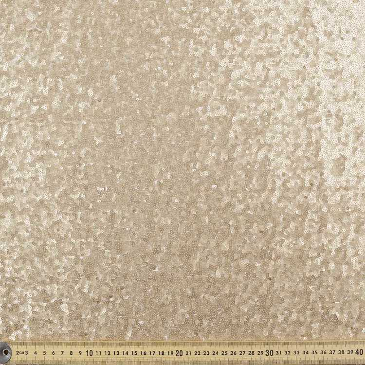 132 cm Plain Giselle Sequin Fabric
