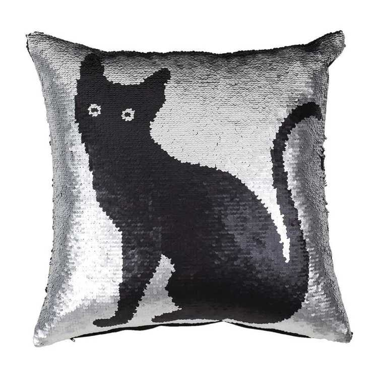 KOO Home Catz Sequined Cushion