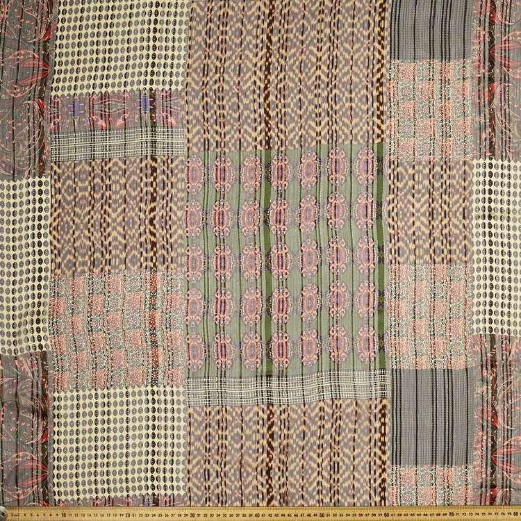 Printed Dobby Lurex Chiffon 148cm Fabric