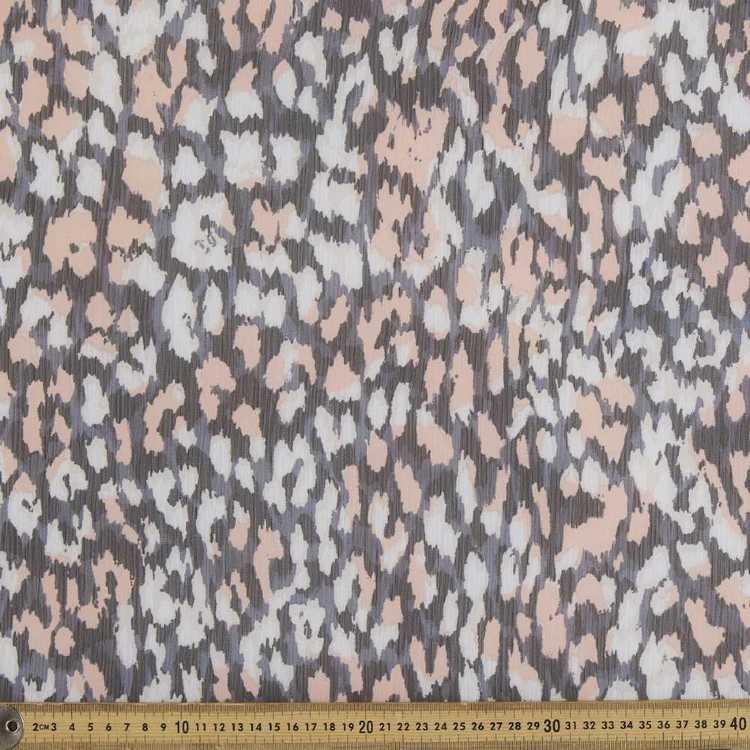 Abstract Animal Printed 148 cm Chiffon Yoryu Fabric