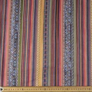 Stripe Printed Dobby Lurex Chiffon Fabric