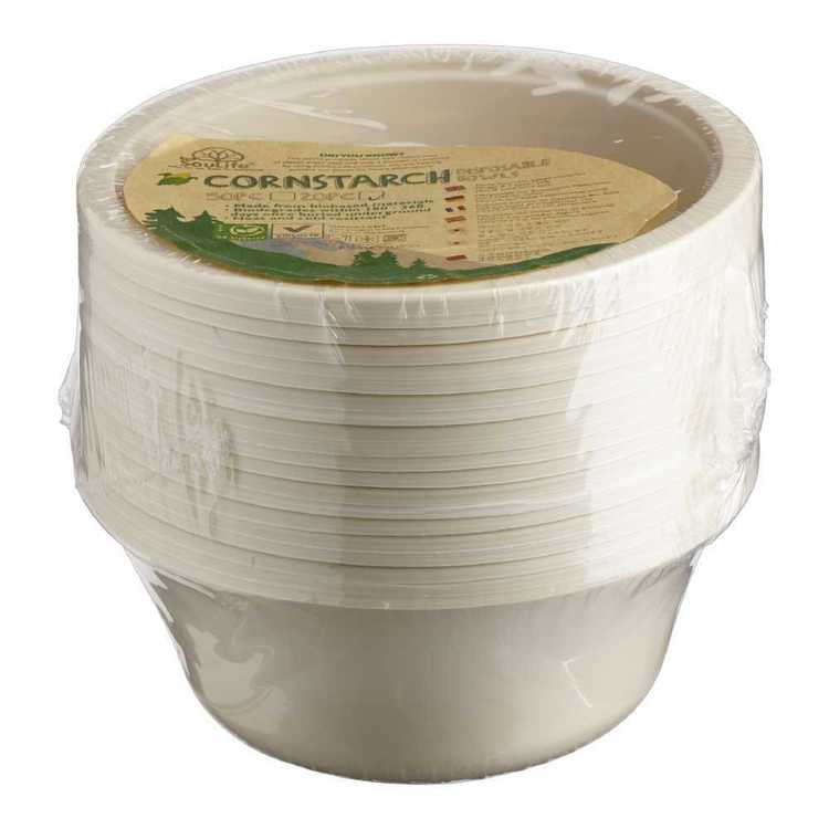 EcoSouLife Disposable Cornstarch Bowl 20 Pack