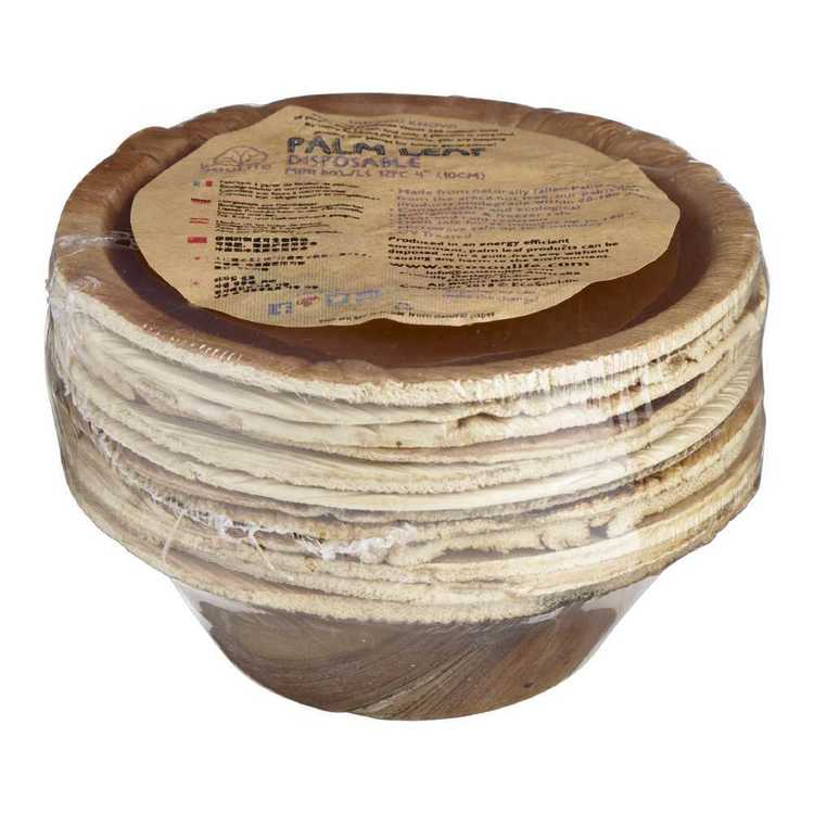 EcoSouLife Disposable Palm Leaf Mini Bowl 12 Pack
