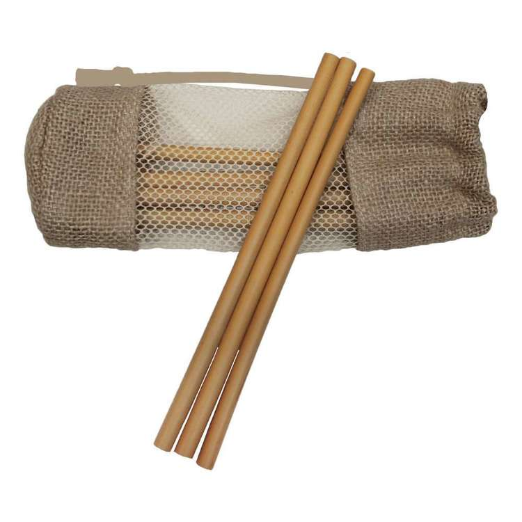 EcoSouLife Bamboo Straws with Brush & Bag