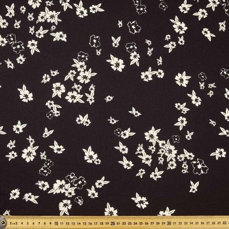 Printed Poly Crepe White Spirea 148cm Fabric