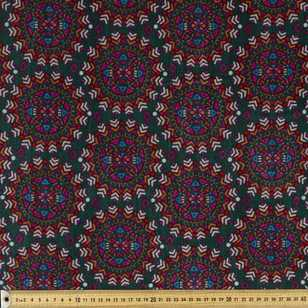 Aztec Circle Printed 148 cm Velvet Fabric