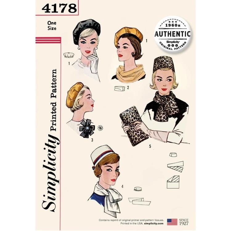 Simplicity Pattern 4178 Misses' Vintage 60s Accessories