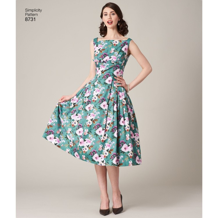 Simplicity Pattern 8731 Misses Vintage Dress And Lined Coat