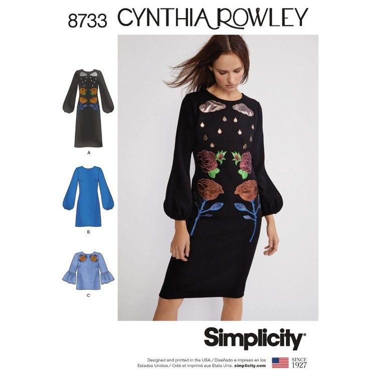 Simplicity Pattern 8733 Misses' Cynthia Rowley Dress And Top