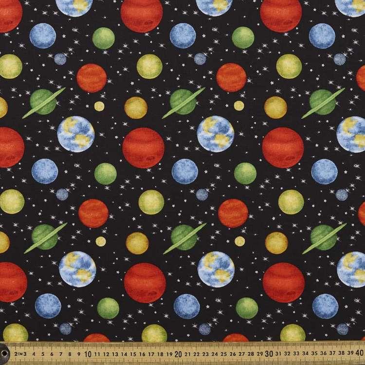 Studio E Space Walk Planet Allover Cotton Fabric