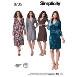 Simplicity Pattern 8735 Misses'/Miss Petite Wrap Dress Pattern