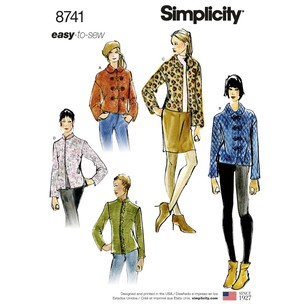 Simplicity Pattern 8741 Misses' Lined Short Jackets
