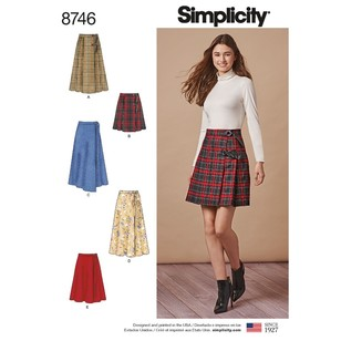 Simplicity Pattern 8746 Misses' Wrap Skirts