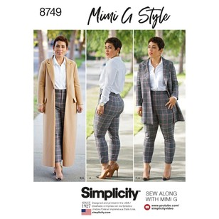 Simplicity Pattern 8749 Misses' & Women's Mimi G Style Coat And Pants