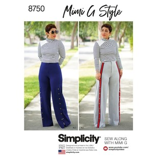 Simplicity Pattern 8750 Misses' Mimi G Style Top And Wide-Leg Pants