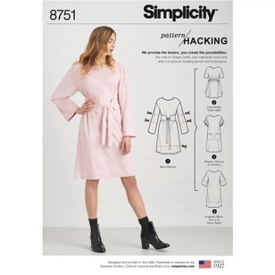 Simplicity Pattern 8751 Misses' Dress With Options For Design Hacking