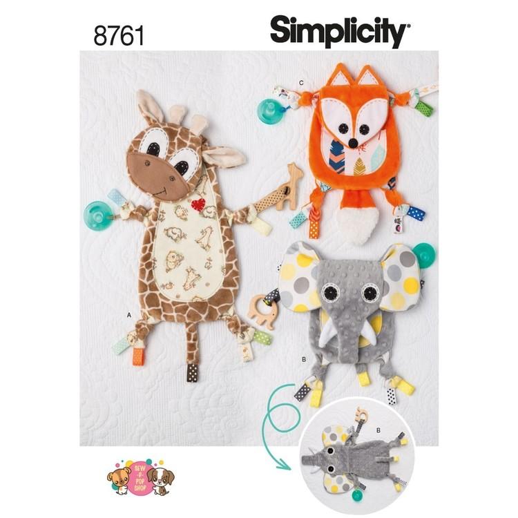 Simplicity Pattern 8761 Babies' Sensory Blanket