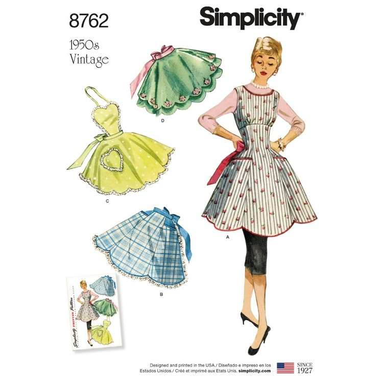 Simplicity Pattern 8762 Misses' Vintage Aprons