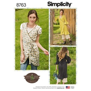Simplicity Pattern 8763 Misses' Apron Dress