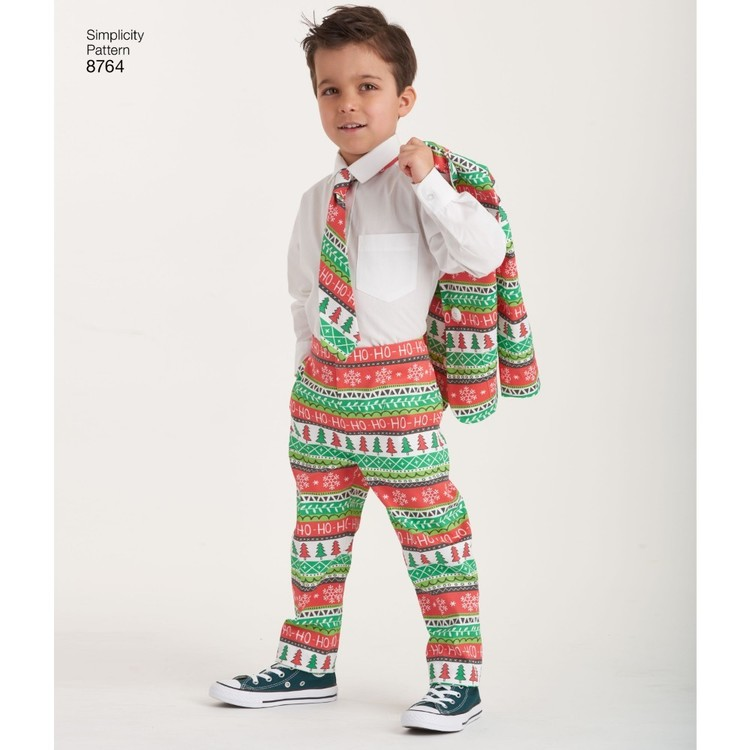 Simplicity Pattern 8764 Boys' Suit And Ties 3 - 8