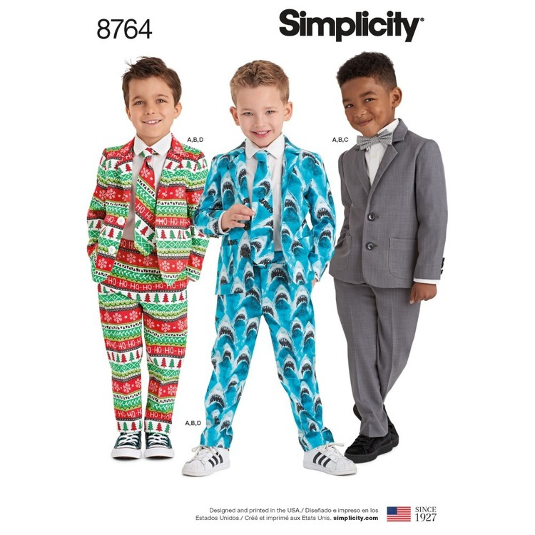 Simplicity Pattern 8764 Boys' Suit And Ties