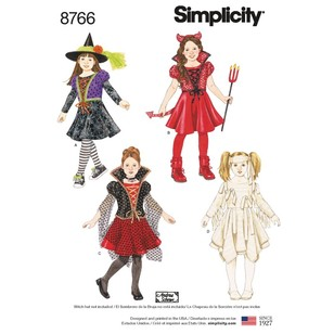 Simplicity Pattern 8766 Children's Costumes