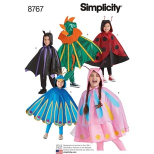 Simplicity Pattern 8767 Children's Cape Costumes