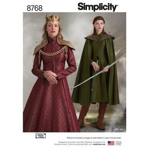 Simplicity Pattern 8768 Misses' Fantasy Costumes