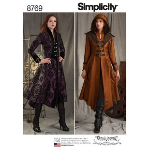 Simplicity Pattern 8769 Misses' Costume Coats